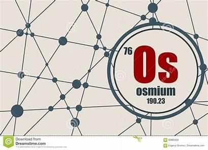 Osmium Element Atomic Chemical Weight Number Periodic