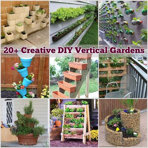 Vertical Garden Diy Ideas by 20 Creative Diy Vertical Gardens For Your Home