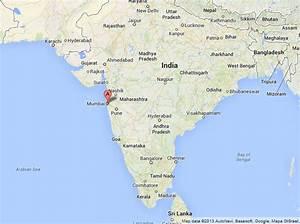 Mumbai on Map of India   World Easy Guides