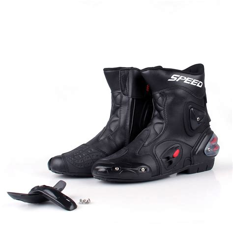 sport motorcycle shoes men motorcycle leather boots shoes waterproof sportbike