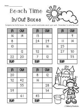 beach summertime   boxes number patterns