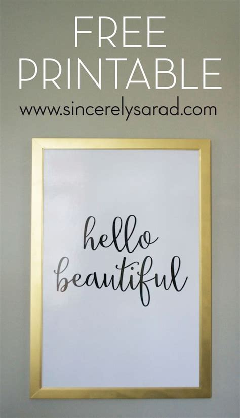 beautiful print sincerely sara  home decor diy projects  beautiful