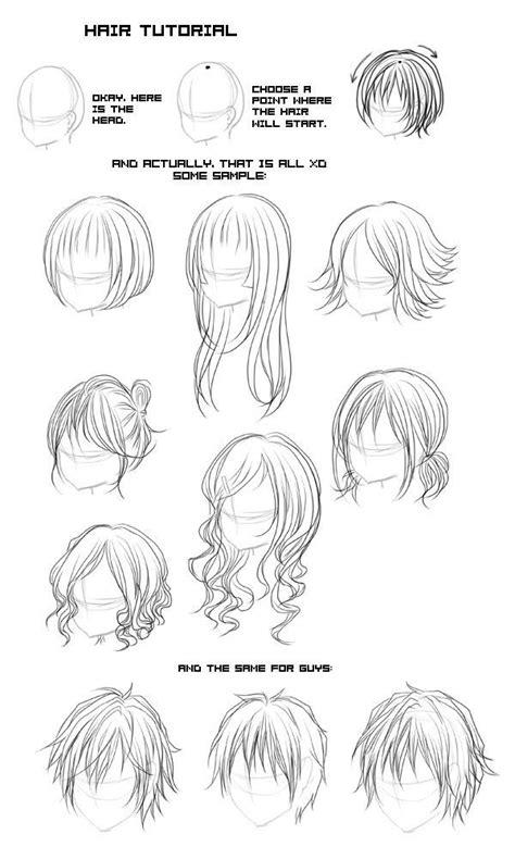 types  anime hair google search anime design
