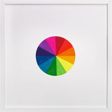 """Fine motor activities for kids. """"Primary Color Wheel"""" - Graphic Art Print by Hilary Hahn 