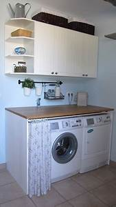 Waschmaschine Und Trockner In Einem : so wird ihr hauswirtschaftsraum ein hingucker einfach die waschmaschine hinter einem vorhang in ~ Bigdaddyawards.com Haus und Dekorationen