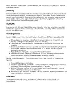 patient access manager resume professional patient access specialist templates to showcase your talent myperfectresume