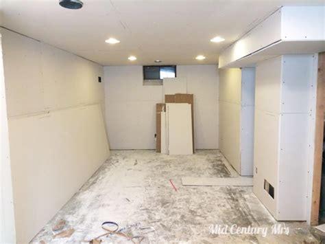 Mid Century Mrs Basement Drywall