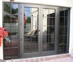 double french door  large full length windows  side