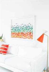 Diy piece of wall art to dress up your house for spring