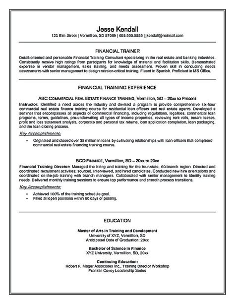 Area Of Expertise Exles personal trainer resume should explain an expertise area