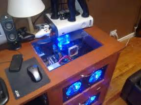 PC Desk Gaming Computer Case
