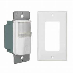 Single Pole White Indoor Motion Sensor Light Switch With
