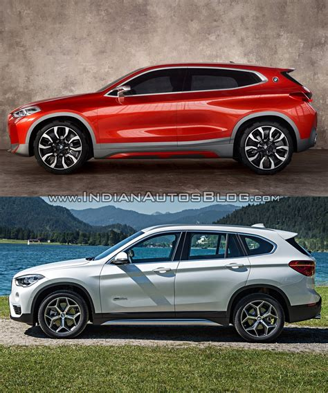 Vs Bmw by Bmw X2 Vs Bmw X1 In Images