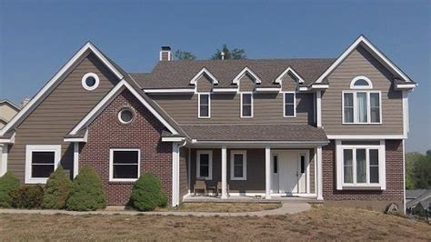 what color to paint houses with red brick google search