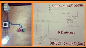 Stop Start Motor Control Circuits Wiring  With Diagram