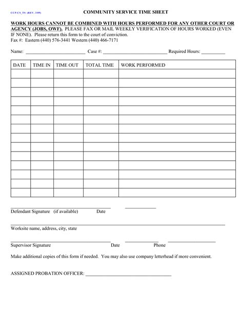 20185 service form in word 2 court ordered community service form community