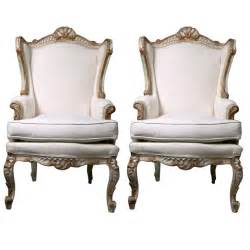 French Bergere Chairs by Pair Of Painted French Rococo Style Bergere Chairs At 1stdibs
