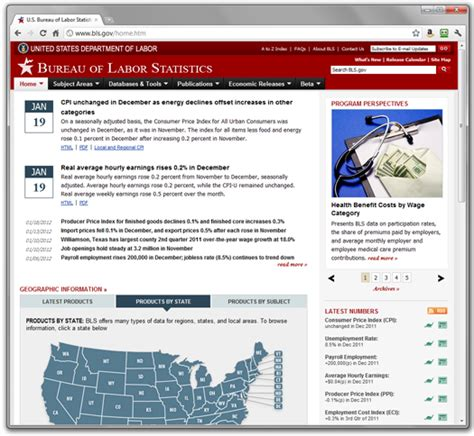 the bureau of labor statistics bls gov web redesign bureau of labor statistics 2007