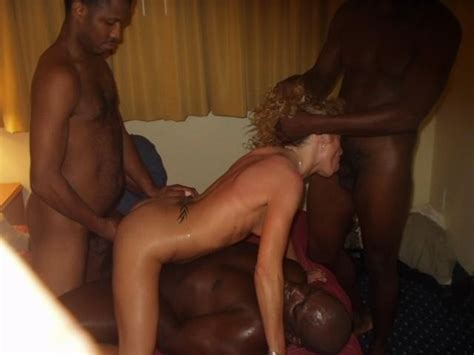 Gangbang Sex Black Man Fucking White Woman In Interracial