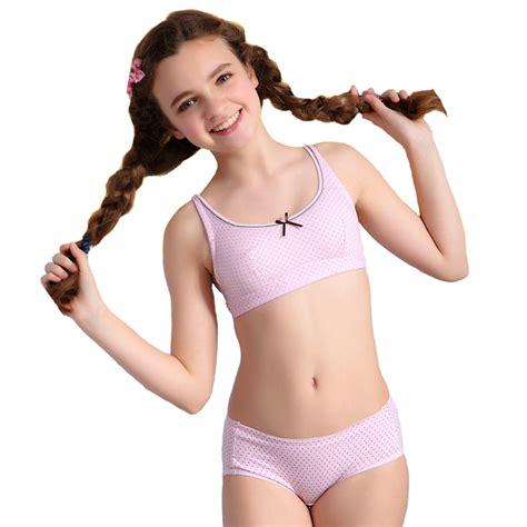 Wholesale Wofee 2015 Girls Puberty Underwear Sets Dot Health Cotton Bra And Matching Pants S1045 ...