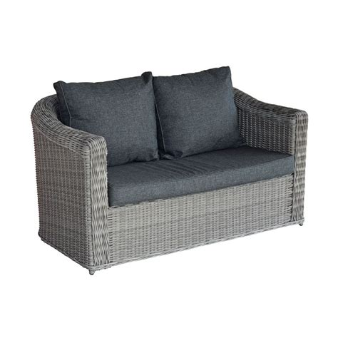 canapé 2 places gris canapé de jardin 2 places giglio gris gris anthracite