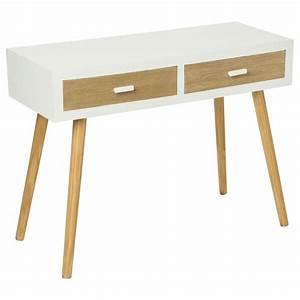 Console Scandinave Pas Cher : console 2 tiroirs helga blanc ~ Teatrodelosmanantiales.com Idées de Décoration