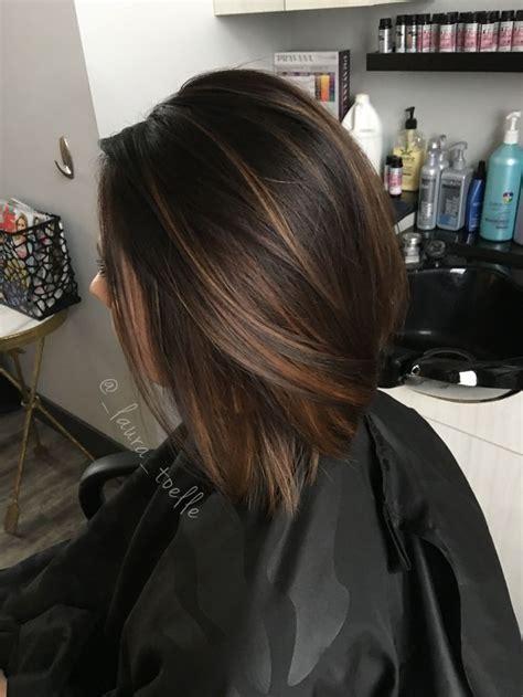 Trendy Hair Highlights : Caramel highlights. Dark brown