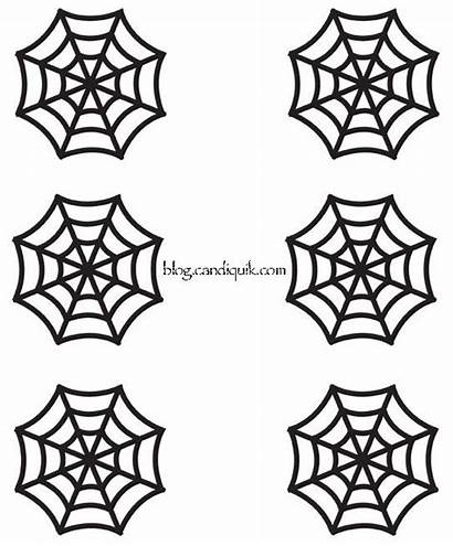 Spider Web Cupcake Toppers Halloween Outline Template