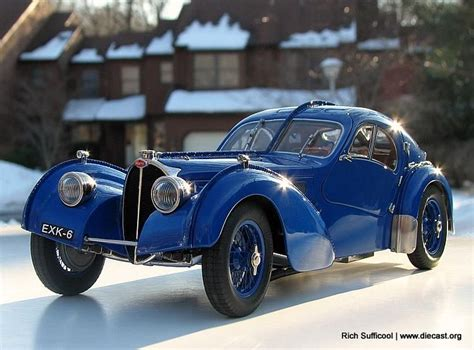 Early Bugatti Models by 1937 Bugatti 57 Sc Atlantic Diecast Scale Model By Cmc