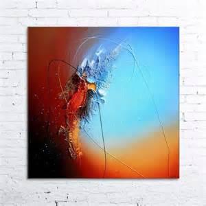 peinture acrylique moderne abstrait utopia tableau abstrait moderne contemporain peinture acrylique en relief marron bleu noir