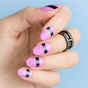 Striking pink nails easy nail designs sonailicious