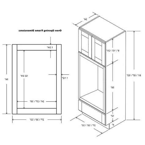 double oven cabinet dimensions