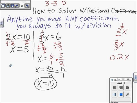 Solving One Step Equations With Fractions And Decimals Worksheet  Two Step Equations With