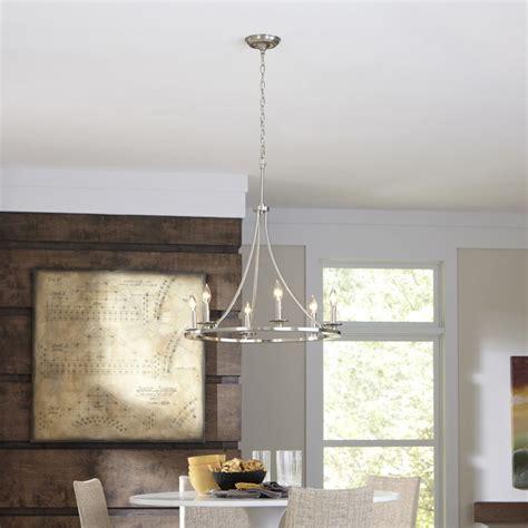 shop allen roth  light brushed nickel chandelier
