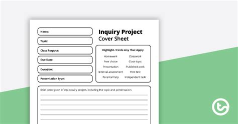 inquiry project template teaching resource teach starter