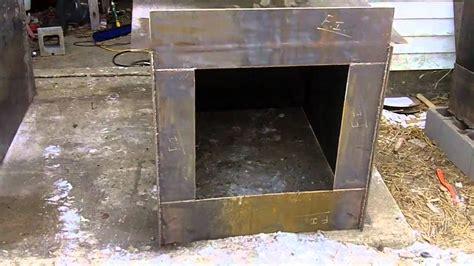diy outdoor wood burner boiler hydronic wood burning stove  heat youtube