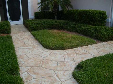 decorative concrete walkways decorative concrete can make a statement about your driveway pool deck or walkways sarasota