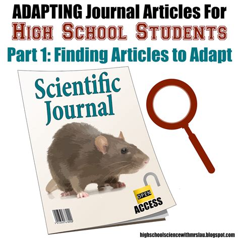Adapting Journal Articles For High School Students Part 1  Science And Math With Mrs Lau