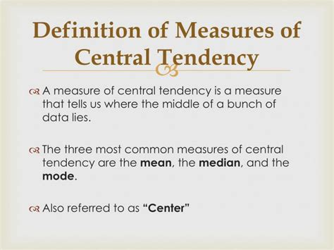 Ppt  Measures Of Central Tendency & Spread Powerpoint Presentation Id2093490