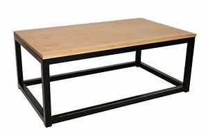 Table Bois Et Fer : table salon bois et fer id es de d coration int rieure french decor ~ Teatrodelosmanantiales.com Idées de Décoration