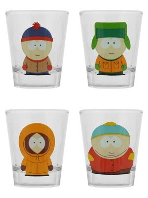 He starts out each segment by saying hello, didn't hear you come in or a variation thereof, followed by greetings and welcome to ask thatguywiththeglasses. South Park Characters Shot Glasses, Set Of 4 - Buy Online ...