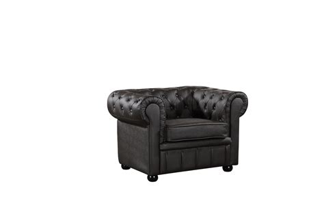 Classic Brown Leather Chesterfield Style Armchair