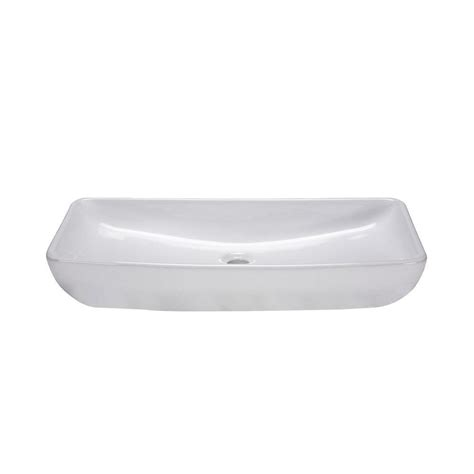 Rectangle Vessel Sink Home Depot by Ryvyr Above Counter Rectangular Vitreous China Vessel Sink