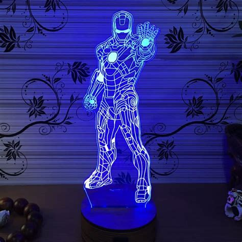 3d iron light batman light marvel le home bedroom
