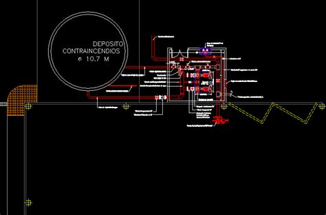 pump room fire protection dwg block  autocad