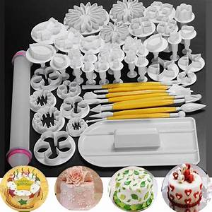 Fondant Werkzeug Set : 46 pcs fondant cake sugarcraft decorating kits cutters tools mold mould sets new ebay ~ Whattoseeinmadrid.com Haus und Dekorationen