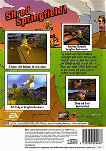 The Simpsons Skateboarding Box Shot For Playstation 2