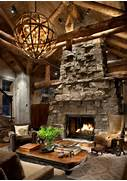Rustic Cabin Living Room Ideas by Great Room Fireplace Rustic Living Room Other Metro By Peace Design