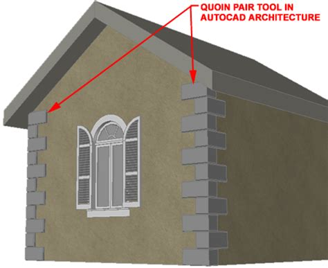 Definition Architecture by Autocad Architecture Quoin Tool