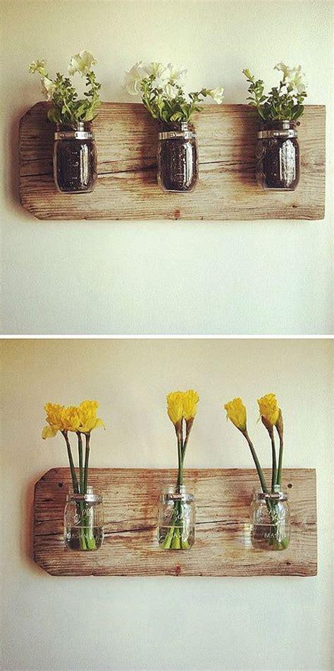 diy mason jars wall vases homemydesign